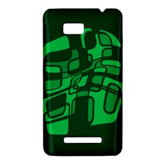 Green abstraction HTC One SU T528W Hardshell Case
