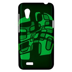 Green abstraction HTC Desire VT (T328T) Hardshell Case