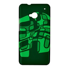Green abstraction HTC One M7 Hardshell Case