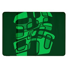 Green abstraction Samsung Galaxy Tab 8.9  P7300 Flip Case