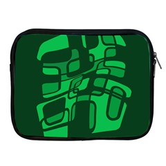 Green abstraction Apple iPad 2/3/4 Zipper Cases