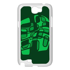 Green abstraction Samsung Galaxy Note 2 Case (White)