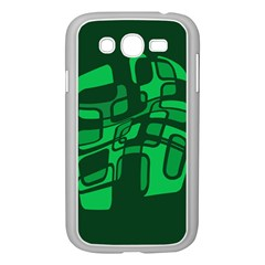 Green abstraction Samsung Galaxy Grand DUOS I9082 Case (White)