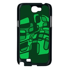 Green abstraction Samsung Galaxy Note 2 Case (Black)