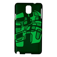 Green abstraction Samsung Galaxy Note 3 N9005 Hardshell Case