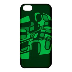 Green abstraction Apple iPhone 5C Hardshell Case