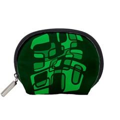 Green abstraction Accessory Pouches (Small)