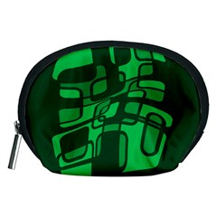 Green abstraction Accessory Pouches (Medium)