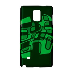 Green abstraction Samsung Galaxy Note 4 Hardshell Case