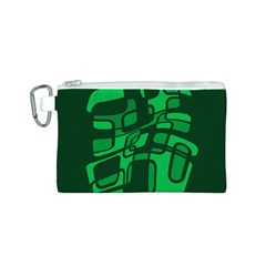 Green abstraction Canvas Cosmetic Bag (S)