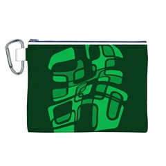 Green abstraction Canvas Cosmetic Bag (L)