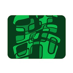 Green abstraction Double Sided Flano Blanket (Mini)