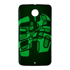 Green abstraction Nexus 6 Case (White)