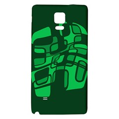 Green abstraction Galaxy Note 4 Back Case