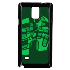 Green abstraction Samsung Galaxy Note 4 Case (Black)