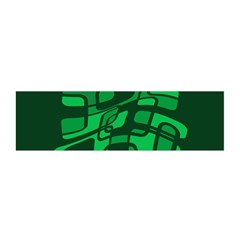 Green abstraction Satin Scarf (Oblong)