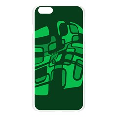Green abstraction Apple Seamless iPhone 6 Plus/6S Plus Case (Transparent)