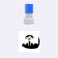 Brainiac Rubber Round Stamps (Small)