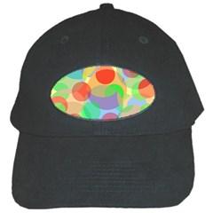 Colorful circles Black Cap