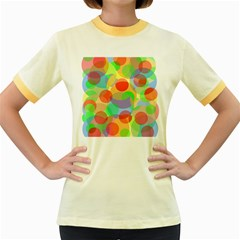 Colorful circles Women s Fitted Ringer T-Shirts
