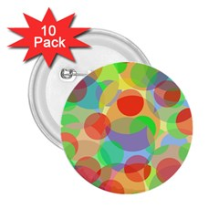 Colorful circles 2.25  Buttons (10 pack)