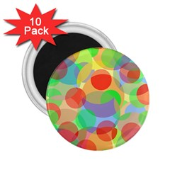 Colorful circles 2.25  Magnets (10 pack)