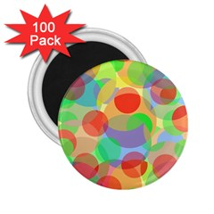 Colorful circles 2.25  Magnets (100 pack)