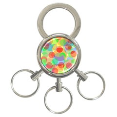 Colorful circles 3-Ring Key Chains