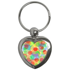 Colorful circles Key Chains (Heart)