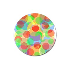 Colorful circles Magnet 3  (Round)