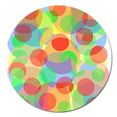 Colorful circles Magnet 5  (Round)