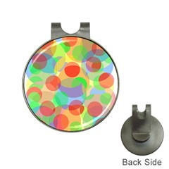 Colorful circles Hat Clips with Golf Markers