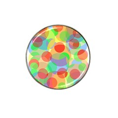 Colorful circles Hat Clip Ball Marker (10 pack)