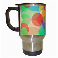 Colorful circles Travel Mugs (White)