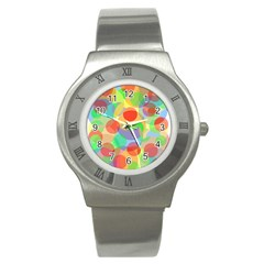 Colorful circles Stainless Steel Watch