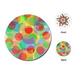 Colorful circles Playing Cards (Round)