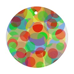 Colorful circles Round Ornament (Two Sides)