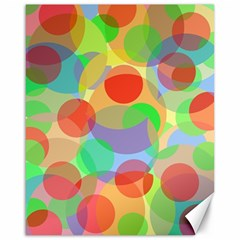 Colorful circles Canvas 16  x 20