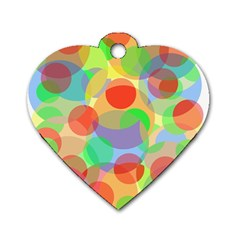 Colorful circles Dog Tag Heart (Two Sides)