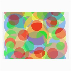 Colorful circles Large Glasses Cloth (2-Side)