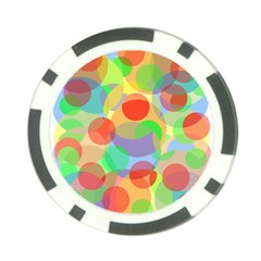 Colorful Circles Poker Chip Card Guards