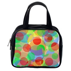 Colorful circles Classic Handbags (One Side)