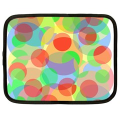 Colorful circles Netbook Case (XXL)
