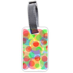 Colorful circles Luggage Tags (One Side)