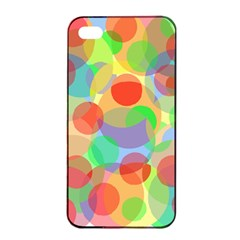 Colorful circles Apple iPhone 4/4s Seamless Case (Black)