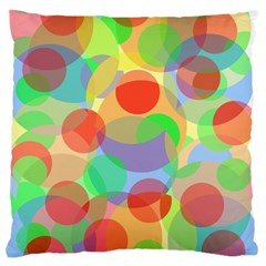 Colorful circles Large Cushion Case (Two Sides)
