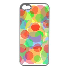 Colorful circles Apple iPhone 5 Case (Silver)