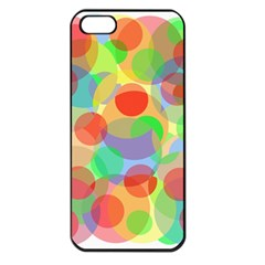 Colorful circles Apple iPhone 5 Seamless Case (Black)