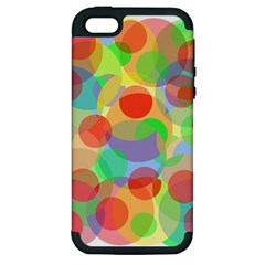 Colorful circles Apple iPhone 5 Hardshell Case (PC+Silicone)