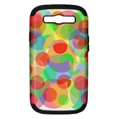Colorful Circles Samsung Galaxy S Iii Hardshell Case (pc+silicone)